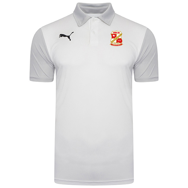 20/21 Adult Polo Shirt White/Grey
